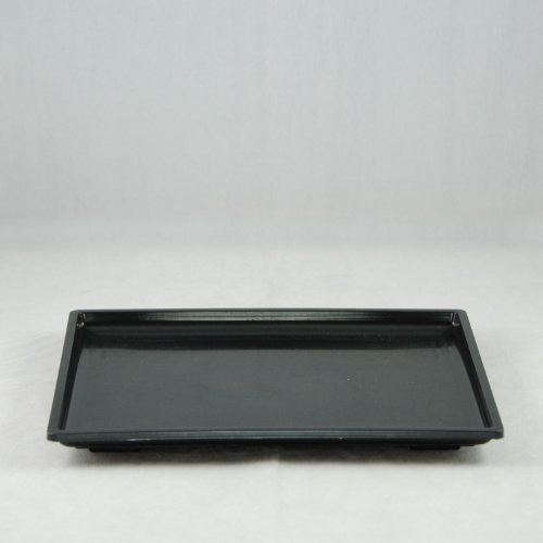 Rectangular Plastic Humidity Tray for Bonsai Tree 10.25'x 8.25'x 0.75' - Black
