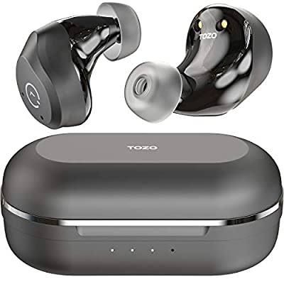 TOZO NC9 Hybrid ANC Wireless Earbuds Active Noise Cancelling Headphones Bluetooth 5.0 TWS Stereo in Ear Earphones, Immersive Sound Premium Deep Bass Built in 3 Mic Headset,Black by TOZO