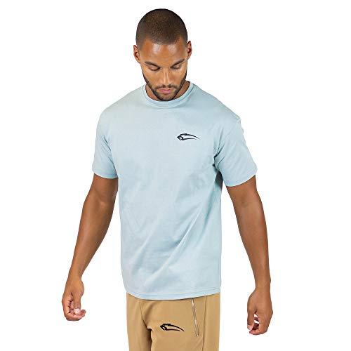 SMILODOX T-Shirt Herren Regular Fit 'Base'| Kurzarm | Casual Top | Funktionsshirt für Sport Fitness Gym & Training | Trainingsshirt - Laufshirt - Sportshirt mit Logo, Farbe:Blau, Größe:L