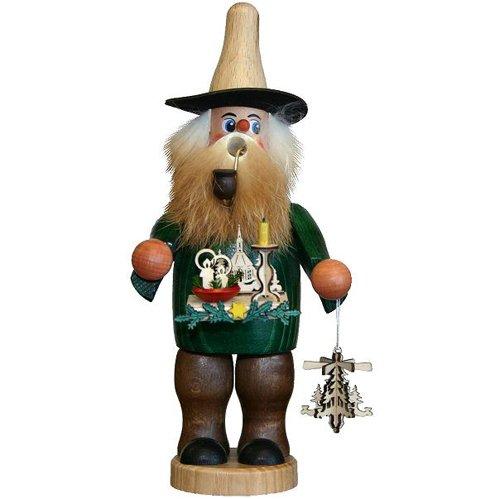 German Incense Smoker Candleholder Salesman - 20cm / 8 inch - Authentic German Erzgebirge Smokers - Dregeno Seiffen