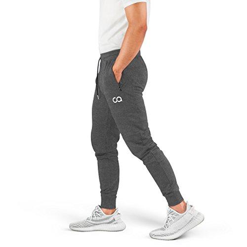 Contour Athletics Men's Joggers Cruise Sweatpants for Men with Zipper Pockets CA1003-LG Gray
