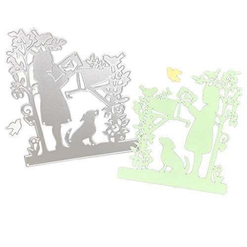 Artículos de decoración para el hogar, plantillas de troquelado de metal para manualidades, álbumes de recortes, tarjetas, decoración de manualidades, decoración del hogar para Pascua (E)