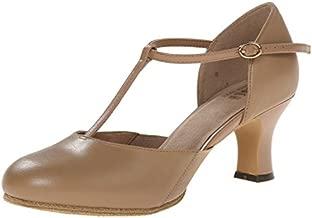 Bloch Women's Splitflex T-Strap Character Shoe, Tan, 9