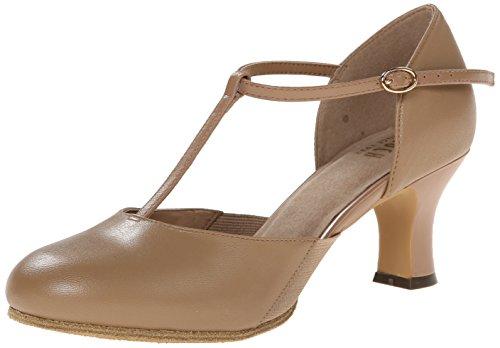 Bloch womens Splitflex T-strap Character dance shoes, Tan, 8.5 US