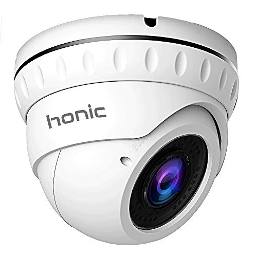 Honic 2MP TVI/AHD/CVI 2.8mm-12mm Varifocal CCTV Camera, 1080P HD Zoom Day Night Vision IR Dome Security Cameras, Waterproof Outdoor Analog Cam for Video Surveillance