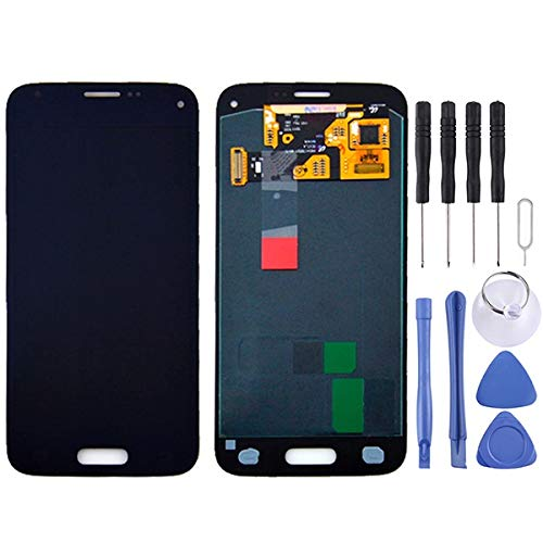CAPOOK -LCD + el Panel táctil for Galaxy Mini S5 / G800, G800F, G800A, G800HQ, G800H, G800M, G800R4, G800Y (Negro) DIY (Color : Black)