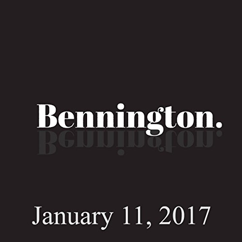 Bennington, January 11, 2017 audiobook cover art
