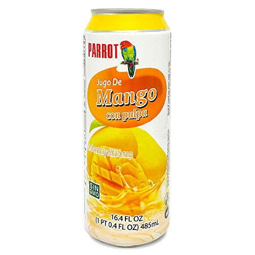 Parrot Brand Mango Juice Drink with Pulp 16.4 fl. oz(Pack of 12)