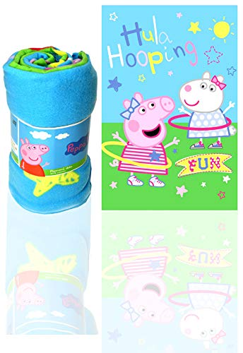 Jerry Fabrics Peppa Pig Hula Hooping Fleece Decke