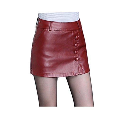 Lotus Instyle dames Effen imitatieleer Culottes Shorts Rokken