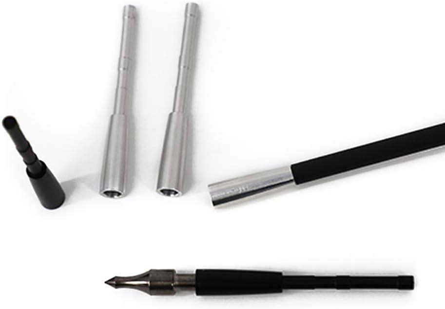ACCMOS 48grain Tiro con LArco Base Inserto in Alluminio Connetti Arrowhead Fit Albero Freccia ID 4,2 mm Frecce di Caccia Inserto Penetratore Freccia DIY Tubo di Collegamento