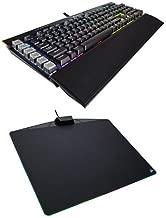 Corsair Gaming K95 RGB PLATINUM Mechanical Keyboard, Cherry MX Brown, Black (CH-9127012-NA) and Corsair Gaming MM800 RGB Polaris Mouse Pad