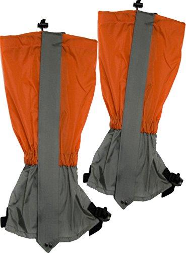Outdoor Saxx® Lot de 2 guêtres étanches et résistantes pour la randonnée, le ski, la saleté et la saleté - Imperméables - Orange