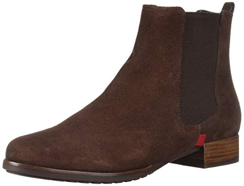 MARC JOSEPH NEW YORK Women's Leather Made in Brazil Ankle Bootie Boot, Brown Suede, 8 M US