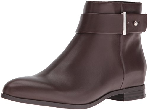 Nine West Women's Objective Leather Boot, Dark Brown, 7 M US