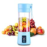 Portable 6 Blades in 3D Juicer Cup,Updated Version Rechargeable Juice Blender Magnetic Secure Switch...