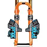 バイク用ステッカー F-O-Xフロートファクトリー32マウンテンバイクフロントフォークステッカー自転車F-O-X32軽量XCフロントフォークデカールMTBバイクデカール (Color : Blue grey blk btm)