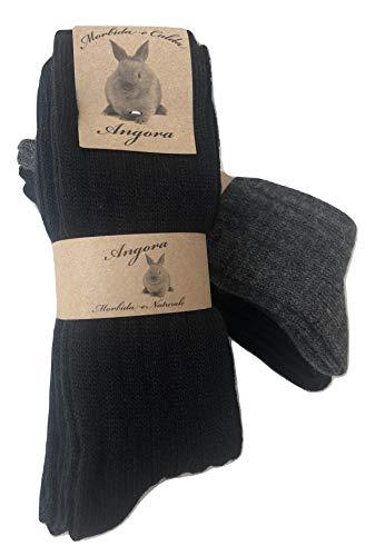 worldsocks calzini caldi in lana d 'angora per uomo e donna,calze calzini invernali per il freddo made in italy,altezza metà polpaccio.(3 pack or 6 pack) (43-46, 6 paia ass.B)