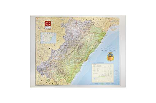 Mapa en relieve de Castellón: Escala 1:200.000