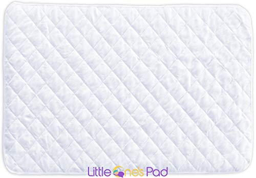 Little One's Pad Pack N Play Crib Mattress Cover - 27' X 39' - Fits Most Baby Portable Cribs, Play Yards and Foldable Mattresses - Waterproof, Dryer Safe - Comfy and Soft Fitted Crib Protector