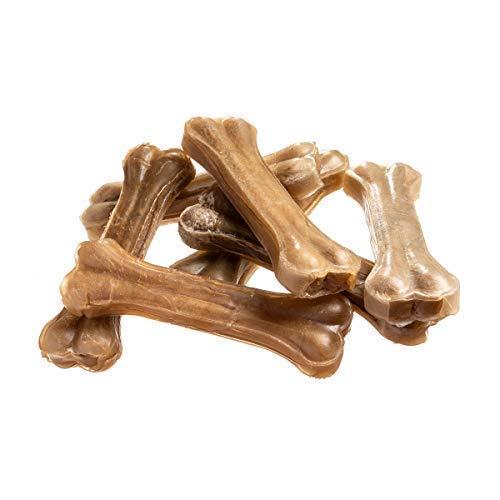 bontoy Hundekauknochen I 10 Stück x 17cm I Naturprodukt aus Reiner Rinderhaut I proteinreich und gut für die Kaumuskulatur ihres Hundes