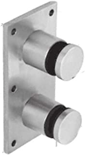 CRL Brushed Stainless Steel Glass Rail Standoff Fitting With Mounting Plate by CR Laurence