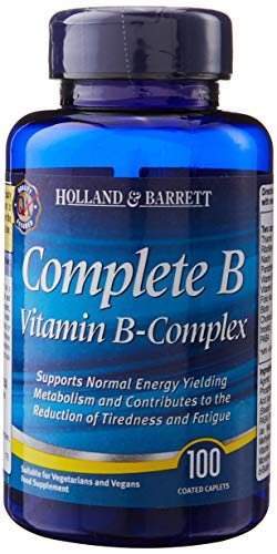 Holland & Barret Complete Vitamin B-Complex 100 Easy to Swallow Coated Caplets
