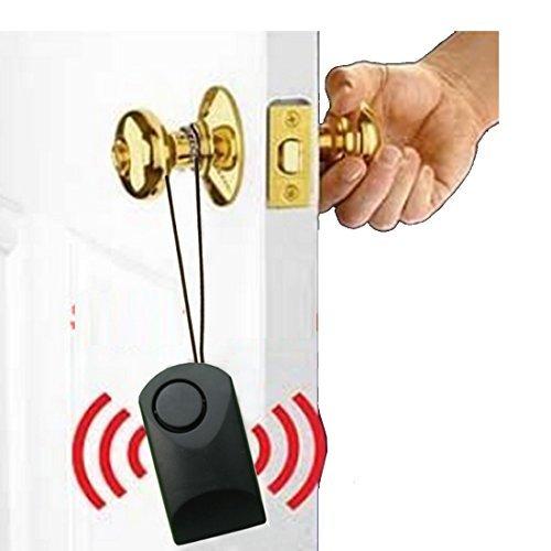 Portable Alarm Sensor Alarm Theft Scaring Alarm Door Alarm Door Handle Touch Alarm for Wood Door with Battery