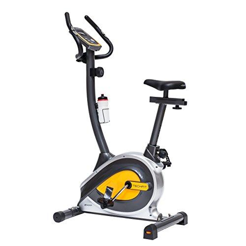 TechFit B400 Bicicleta estática de Ejercicio, Magnética, Máquina de Cardio de la Resistencia de la Pérdida de Peso con la Silla de Montar Ajustable, los Sensores del Pulso y el Monitor LCD