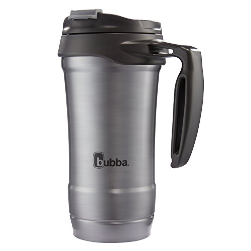 bubba Hero Dual-Wall Vacuum-Insulated Stainless Steel Travel Mug, 18 oz., Gunmetal