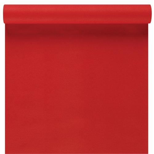 Susy Card 11094794 Tischläufer, Softdekor, Airlaid, 3 m x 40 cm, rot