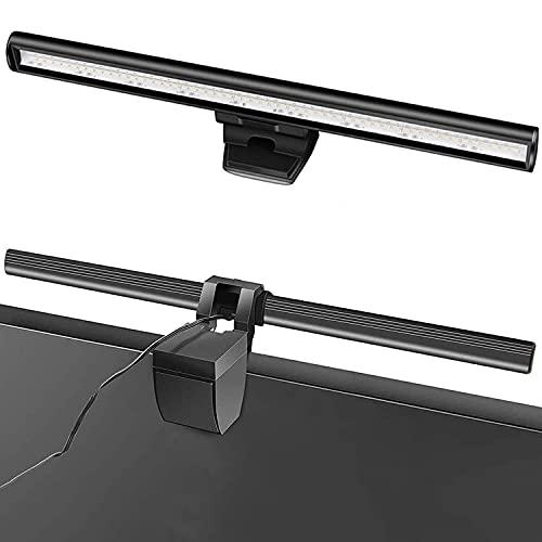 Barra de luz de monitor, luz de monitor de computadora Barra de luz de pantalla LED alimentada por USB, con funciones automáticas de atenuación y ajuste de tono, adecuada para escritorios / oficinas
