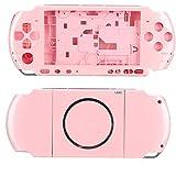 Kafuty Reemplazo de Carcasa Completa Consola del Juego Carcasa Cubierta de Funda Piezas de Reparación para PSP 3000 Reemplazo Portátil de Shell para PSP3000 con Destornillador(Rosado)