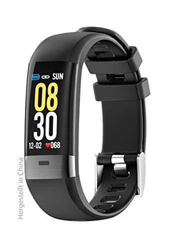 Swisstone 620 ECG Smart-Wearable (mit Bluetooth Funktion und Herzfrequenzmessung sowie EKGüberwachung) schwarz, 450314
