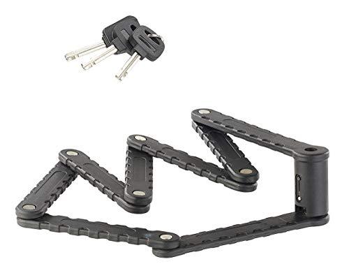 AGT Fahrradsicherung: Fahrrad- & Motorrad-Faltschloss, 3,5-mm-Stahl, 97 cm, Rahmenhalterung (Fahrrad-Schloss) - 2