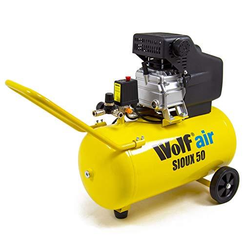 Wolf Sioux 50L Air Compressor Portable 2.5HP 9.6CFM Oil Lubricated 230v 8BAR 116psi 1875w