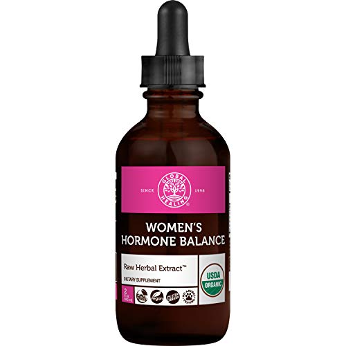 Global Healing Women's Hormone Balance Female Fuzion Organic Liquid Supplement Drops - Superior Vitality, Healthy Libido, Natural Sensual Response, Support Mood & Promote Metabolism Wellness - 2 Fl Oz