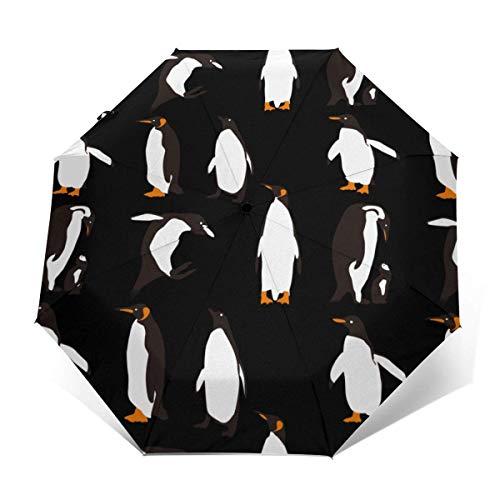 Pinguine Spielen automatisch dreifach gefalteten Regenschirm Sonnenschirm Sonnenschirm Sonnenschirm
