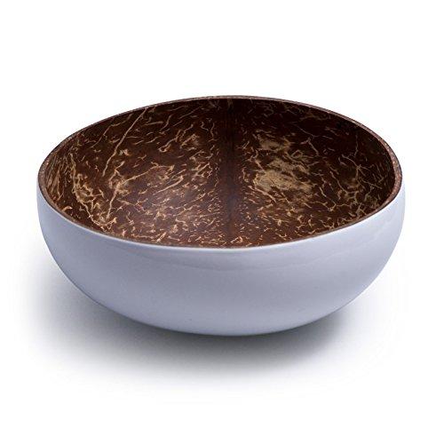 Kaloogo® Cocobowl Pure - Kokosnuss Schale/Dekoschale - weiß