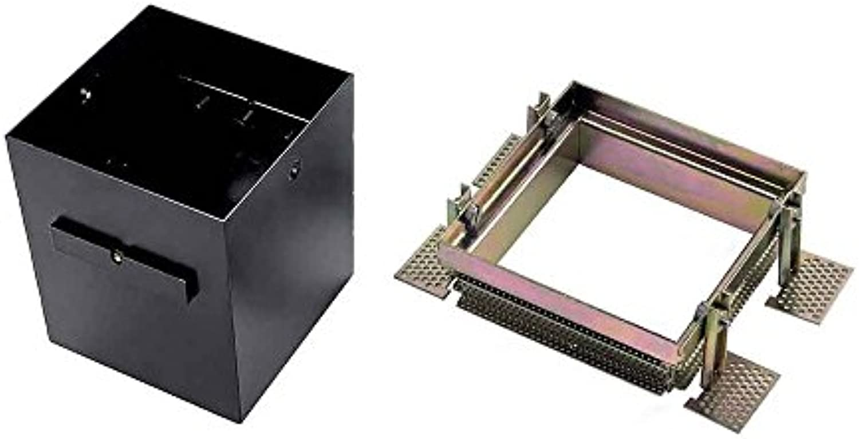 SLV Aixlight Pro 1 Frameless Einbaurahmen inklusive Einbau-Kit, schwarz 115151