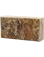 FUCHS Nature Touch Rain Forest Brown 20x10x5 cm, ladrillos de piedra natural marmóreo con Pulido/sin tratar Superficie