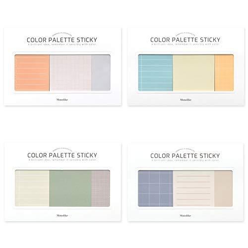 モノライク カラーパレットスティキ プラン Color palette Sticky Plan 300 C セット 4p - デザイン1個あたり50シート、粘着メモ