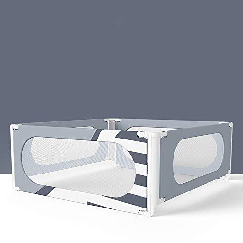 Barnsäng ledsplan baby-säng-skenor sängskenor babysäng tågfall – enkel knut universal-1 st lätt att använda extra långa höga krustång (färg: Grå, storlek: 180 x 200 x 200 cm)