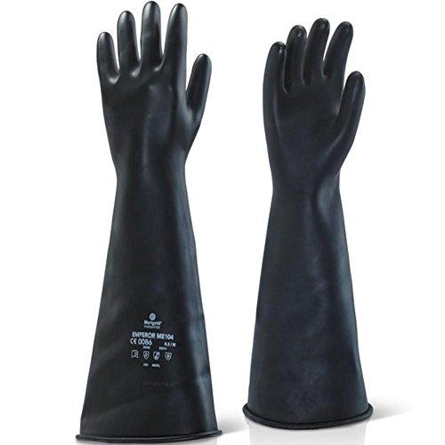 Marigold Stulpenhandschuhe, 10,5 mittleres Gewicht, Größe: XXL, Schwarz,ME104