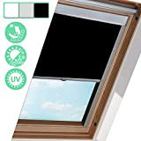 Hengda Store Occultant Roulant Protection Thermique Store occultant pour Fenêtre de Toit Velux Protection Solaire Types et Tailles GGL,GPU,GTU,GXU,GHU (S06, Noir, 97.3 * 94 cm)