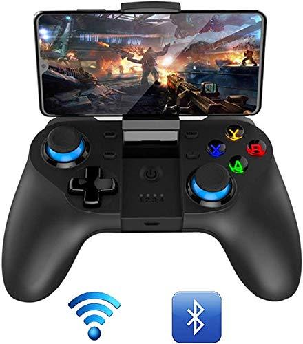 Manette jeu sans fil Bluetooth avec chargement USB, boutons déclenchement par vibration Turbo, manette jeu sans fil pour contrôleur, télécommanmanette jeu, émetteur-récepteur Bluetooth Ios Android,