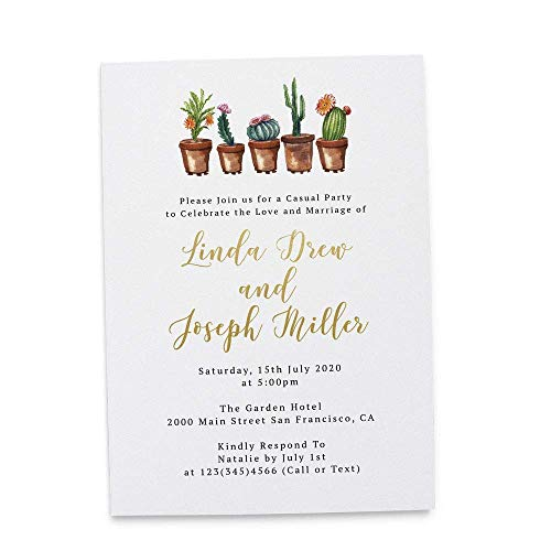 Loveateverysight Rustic Cactus Wedding Reception Invitation Party Anniversary Flat Invitation Cards From Amazon Daily Mail