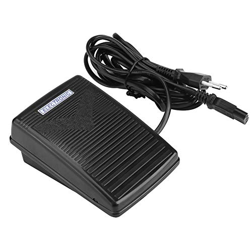 Hilitand Pedal de Control de pie Máquina de Coser doméstica Cable de Control de pie electrónico con Cable de alimentación (Enchufe de la UE)(220v)
