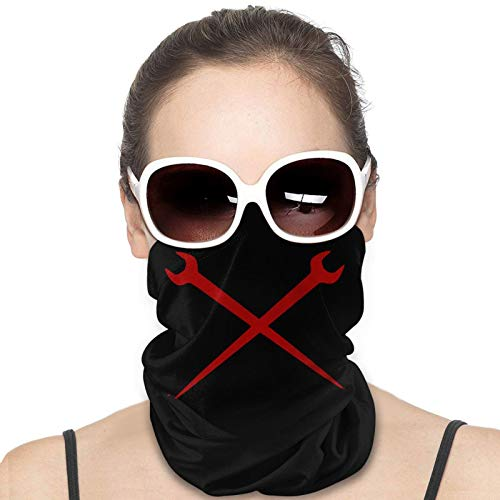 Unisex Neck Gaiter Ironworker Crossed Tools Face Mask Scarf Bandana Balaclava Black