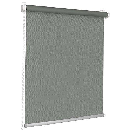 Rolmaxxx ROLLMAXXX Modern Rollo Lichtdurchlässigrollo Klemmfix ohne Bohren (70 x 215 cm, Grau)